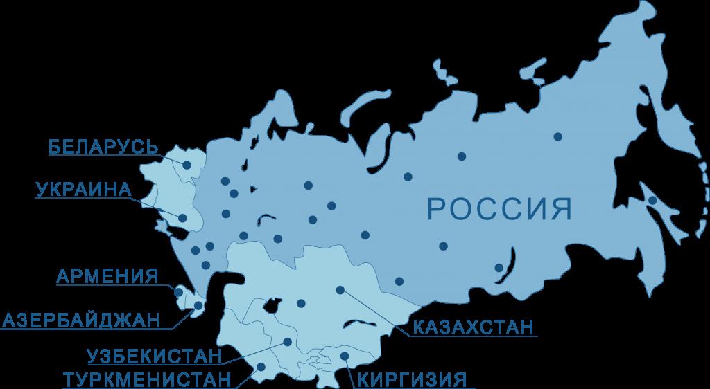 картинка карта доставка негабарита по РФ