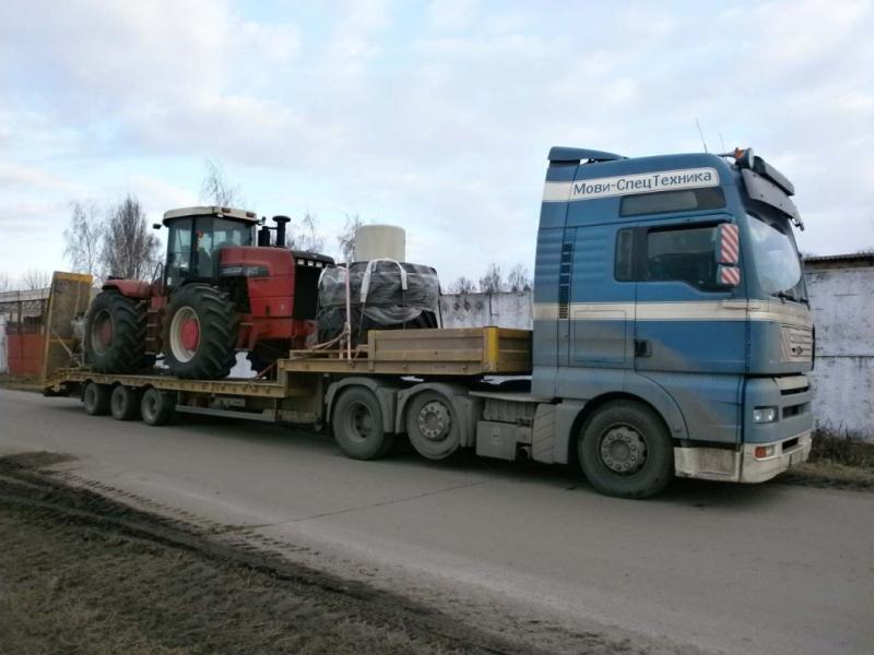 фото перевозка колесных тракторов