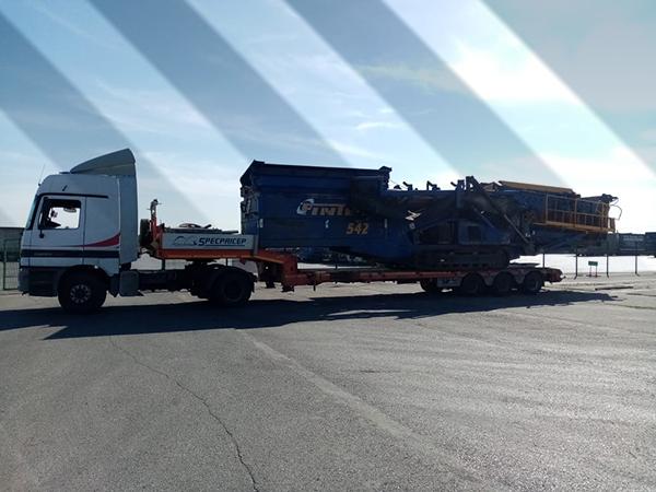 фото перевозка мобильного сортировочного комплекса Finteс-542