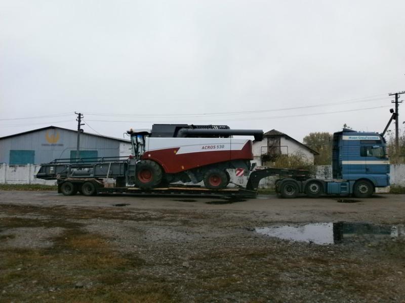 фото перевозка зерноуборочных комбайнов