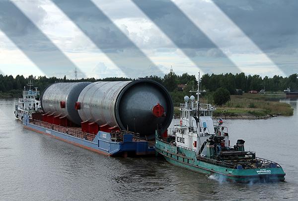 доставка негабаритных грузов по реке